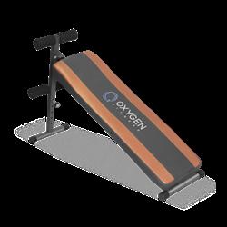 OXYGEN FLAT SIT UP BOARD Скамья для пресса прямая - фото 20541
