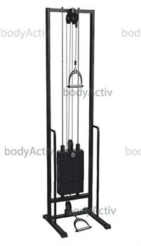 ТРБО2500-Д-1-100 Тренажер блочный реабилитационный стек 100 кг высота 2500 мм (облегченный) - фото 21053
