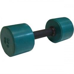 Гантель обрезиненная с обрезиненной ручкой 6 кг, цветная MB-FitC-6 - фото 21246