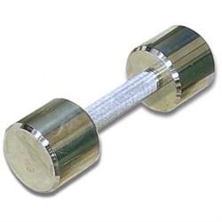 Гантель хромированная для фитнеса 5 кг MB-FitM-5 - фото 21256