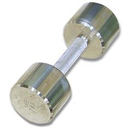 Гантель хромированная для фитнеса 7 кг MB-FitM-7 - фото 21271