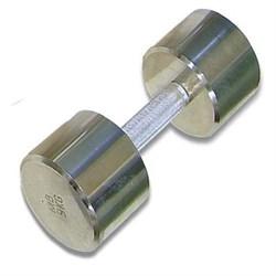 Гантель хромированная для фитнеса 9 кг MB-FitM-9 - фото 21281