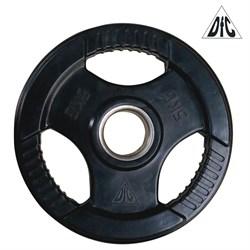Диск обрезиненный DFC, чёрный, 51 мм, 5кг - фото 21557