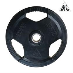 Диск обрезиненный DFC, чёрный, 51 мм, 20кг - фото 21638