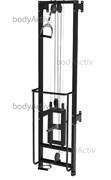 ТРБО2500-Д-П-СВ Тренажер реабилитационный на свободных весах, пристенный высота 2500 мм (облегченный)