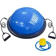 BOSU033-10 Полусфера BOSU гимнастическая, 58см., (синяя) в комплекте с эспандером и насосом (B31652)
