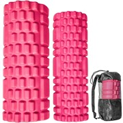 B31263-1 Комплект йога роликов 2 штуки (розовый) 30х10см, 33х14см ЭВА/АБС
