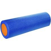 B31511-2 Ролик для йоги полнотелый 2-х цветный (синий/оранжевый) 45х15см.