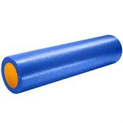 B31512-2 Ролик для йоги полнотелый 2-х цветный (сине/оранжевый) 60х15см.