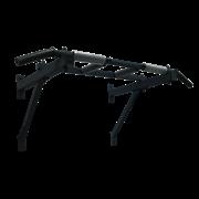 Турник треххватный (крепеж к стене) Черный (с черными ручками)