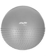 Мяч гимнастический полумассажный GB-201 55 см, антивзрыв, серый