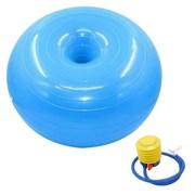 B32238 Мяч для фитнеса с насосом фитбол-пончик 50 см (голубой)