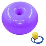 B32238 Мяч для фитнеса с насосом фитбол-пончик 50 см (фиолетовый)