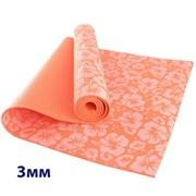 HKEM113-03-ORANGE Коврик для йоги 3 мм-Оранжевый (12)