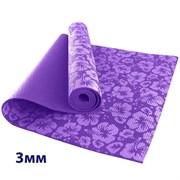 HKEM113-03-PURPLE Коврик для йоги 3 мм-Фиолетовый (12)