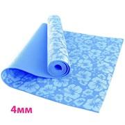 HKEM113-04-BLUE Коврик для йоги 4 мм-Голубой (12)