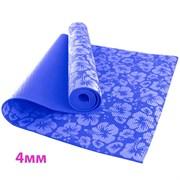 HKEM113-04-NAVY Коврик для йоги 4 мм-Синий (12)