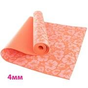 HKEM113-04-ORANGE Коврик для йоги 4 мм-Оранжевый (12)