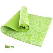 HKEM113-05-GREEN Коврик для йоги 5 мм-Зеленый (12)