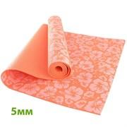 HKEM113-05-ORANGE Коврик для йоги 5 мм-Оранжевый (12)