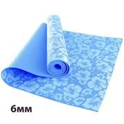 HKEM113-06-BLUE Коврик для йоги 6 мм-Голубой (12)