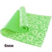 HKEM113-06-GREEN Коврик для йоги 6 мм-Зеленый (12)