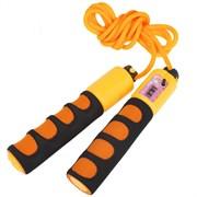 B23652-3 Скакалка со счетчиком (цвет-Оранжевый, ручки неопреновые, шнур ПВХ)