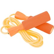 E29472 Скакалка с подшипником 2,8 м (оранжевая) (ручки неопреновые, шнур ПВХ)