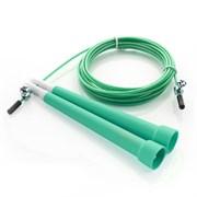 E29475 Скакалка скоростная 3,0 м. трос металл в ПВХ (зеленый)