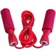 R18103-2 Скакалка ПВХ с подшипником 2,8 м. (розовые ручки, красный шнур)