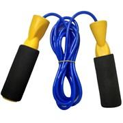 R18103-3 Скакалка ПВХ с подшипником 2,8 м. (желтые ручки, синий шнур)