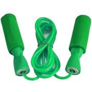 R18103-4 Скакалка ПВХ с подшипником 2,8 м. (зеленые ручки, черный шнур)