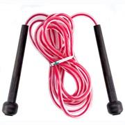 R18145 Скакалка 2,8 м. ПП/ПВХ (розовая)