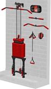 Блоковый тренажер реабилитационный пристенный Leco-IT Home