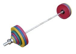 Штанга рекордная олимпийская 182,5 кг в наборе, цветная