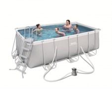 Каркасный прямоугольный бассейн Bestway 56456, 412х201х122 см