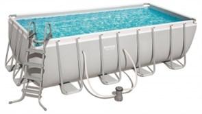 Каркасный прямоугольный бассейн Bestway 56670, 488х244х122 см