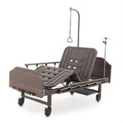 Кровать механическая Med-Mos Е-8 (MM-2024Н-02) (2 функции) ЛДСП с полкой и обеденным столиком
