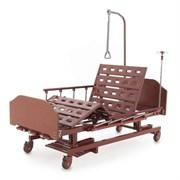 Кровать механическая Med-Mos E-31 (ММ-3024Н-00) (3 функции) с ростоматом и полкой