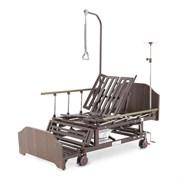 Кровать механическая Med-Mos Е-45А (ММ-5124Н-10) с боковым переворачиванием, туалетным устройством и функцией «кардиокресло»