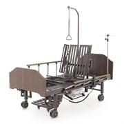 Кровать электрическая Med-Mos YG-3 (МЕ-5228Н-13) ЛДСП Венге с боковым переворачиванием, туалетным устройством и функцией «кардиокресло»