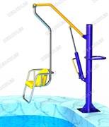 Гидравлический подъемник-лифт для бассейна с низким бортом