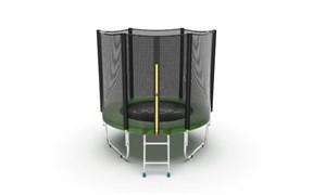 EVO Jump External 6ft Green Батут с внешней сеткой и лестницей диаметр 6ft зеленый