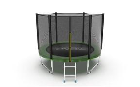 EVO JUMP External 8ft Green Батут с внешней сеткой и лестницей диаметр 8ft зеленый