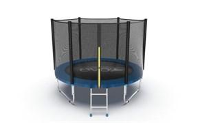 EVO JUMP External 8ft Blue Батут с внешней сеткой и лестницей диаметр 8ft синий