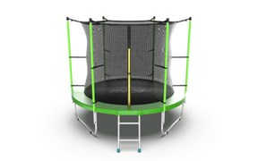 EVO JUMP Internal 8ft Green Батут с внутренней сеткой и лестницей диаметр 8ft зеленый
