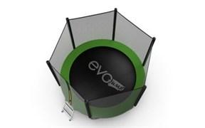 EVO JUMP External 8ft Green + Lower net Батут с внешней сеткой и лестницей диаметр 8ft зеленый + нижняя сеть