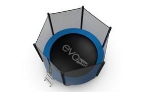 EVO JUMP External 8ft Blue + Lower net Батут с внешней сеткой и лестницей диаметр 8ft синий + нижняя сеть
