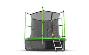 EVO JUMP Internal 8ft Green + Lower net Батут с внутренней сеткой и лестницей диаметр 8ft зеленый + нижняя сеть