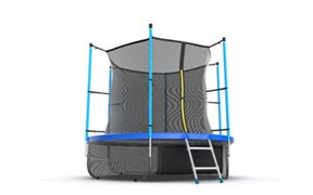 EVO JUMP Internal 8ft Blue + Lower net Батут с внутренней сеткой и лестницей диаметр 8ft синий + нижняя сеть